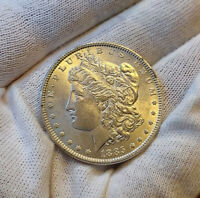 1885 P MORGAN SILVER DOLLAR   EXCEPTIONAL LUSTER   VALUABLE IN HIGH GRADES. WOW