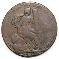 1793 1/2P WARICKSHIRE CONDER TOKEN  BIRMINGHAM MINING AND CO