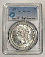 MORGAN SILVER DOLLAR 1890 O PCGS MINT STATE 63