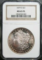 1879-S MORGAN DOLLAR NGC MINT STATE 65PL