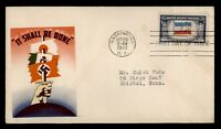 DR WHO 1943 FDC OVERRUN NATIONS WWII PATRIOTIC CACHET YUGOSL
