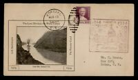 DR WHO 1934 CANAL ZONE PANAMA CANAL 20TH ANIV CACHET COROZAL