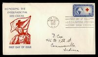DR WHO 1952 INTERNATIONAL RED CROSS FDC C211950