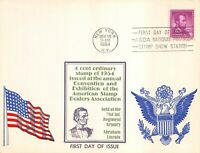 1036 4C ABRAHAM LINCOLN SANDERS MAXI CARD CACHET ON OVERSIZE