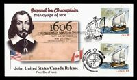 DR WHO 2006 FDC JOINT ISSUE CANADA CHAMPLAIN SHIP NOVICK CAC