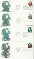 13 SANTA CLAUS FIRST DAY COVERS & CARDS   FIVE LOUISE NEVELS