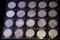 20 FLORINS AUSTRALIAN STERLING SILVER DIFFERENT DATES FROM 1
