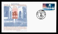 DR WHO 2004 FDC NATIONAL WWII MEMORIAL DEDICATION PANDA CACH
