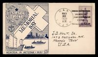 DR WHO 1938 USS LUZON NAVAL SHIP HANKOW CHINA MEMORIAL DAY C