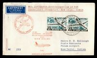 DR WHO 1963 BELGIUM BRUSSELS TO INDIA LUFTHANSA FIRST FLIGHT