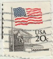 SCOTT 1895A 20 FLAG OVER SUPREME COURT COIL ON COVER WITH PL