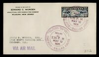 DR WHO 1926 MOLINE IL FIRST FLIGHT AIR MAIL C213246