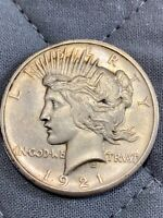 1921 P   SILVER PEACE DOLLAR   HIGH RELIEF  KEY DATE COIN