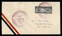 DR WHO 1926 MOLINE IL FIRST FLIGHT AIR MAIL C213248