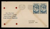 DR WHO 1933 FDC BYRD ANTARCTIC EXPEDITION II CACHET PAIR  G1
