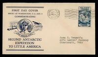 DR WHO 1933 FDC BYRD ANTARTIC EXPEDITION II CACHET  G10282