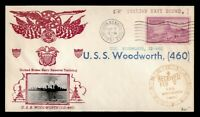 DR WHO 1951 USS WOODWORTH NAVAL SHIP ITALY BOUND CROSBY CACH