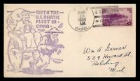 DR WHO 1938 USS ISABEL NAVAL SHIP SHANGHAI CHINA TO USA  G10