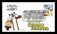 US COVER CALVIN AND HOBBES SUNDAY FUNNIES FDC FLEETWOOD CACH
