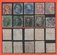 USA 1850S 1860S SELECTION. SOME HIGH CAT STAMPS NOTED. REF 7