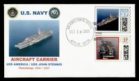 DR WHO 2005 USS AMERICA NAVY SHIP CVP COMPUTER VENEDED STAMP