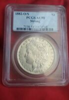 1882-O/S MORGAN DOLLAR PCGS-50 VAM-3A LATE DIE STATE, WITH VAMSEAL LABEL,