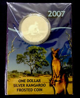 2007 AUSTRALIA ONE DOLLAR SILVER FROSTED PROOF COIN.
