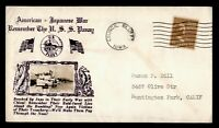 DR WHO  IA USS PANAY NAVY SHIP CROSBY WWII PATRIOTIC CACHET