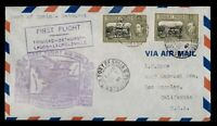 DR WHO 1941 TRINIDAD FIRST FLIGHT PAA TO BATHURST GAMBIA FAM