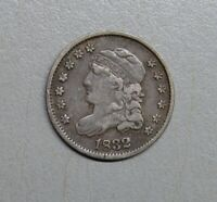 1832 CAPPED BUST HALF DIME  FINE -  EARLY HALF DIME COIN