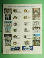 DR WHO 1975 FDC SPACE APOLLO SOYUZ TEST PROJECT PAPER  LG137