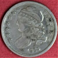 1833 CAPPED BUST DIME EF