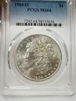 1904-O MINT STATE 64 MORGAN SILVER DOLLAR SILVER COIN PCGS MINT STATE 64  3636