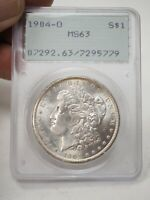 PCGS MINT STATE 63 1904-O MORGAN SILVER DOLLAR NEW ORLEANS 1ST GENERATION RATTLER  5779