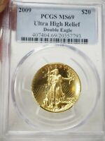 2009 ULTRA HIGH RELIEF DOUBLE EAGLE GOLD $20 PCGS MINT STATE 69  7793