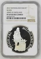 2012 NETHERLANDS SILVER DUCAT FRIESLAND PROOF NGC PF69 ULTRA CAMEO