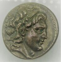 ANCIENT GREEK AR SILVER DRACHM COIN OF ALEXANDER THE GREAT 1