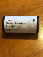 2018 NATIVE AMERICAN 1 DOLLAR 25 COIN ROLL UNOPENED