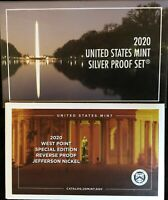 2020 SILVER PROOF SET WITHOUT 2020 W REVERSE PROOF NICKEL