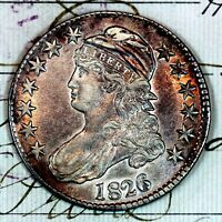 1826   CHOICE UNC CAPPED BUST HALF DOLLAR   FROM ORIGINAL