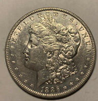 UNC UNCIRCULATED 1886 MORGAN SILVER DOLLAR - $1 MINT STATE