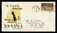 DR WHO 1948 FDC POULTRY INDUSTRY CENTENNIAL JACKSON CACHET 9