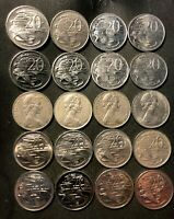 OLD AUSTRALIA COIN LOT   20 HIGH GRADE 20 CENT COINS   LOT L