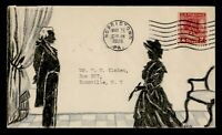 1928 FDC VALLEY FORGE HAND DRAWN ADD ON CACHET 645