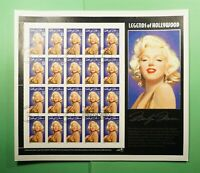 DR WHO 1995 FDC LEGENDS OF HOLLYWOOD MARILYN MONROE S/S FULL