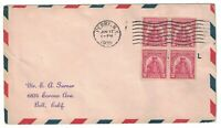 SCOTT 657 FIRST DAY COVER PERRY NY JUN 17 1929 BLOCK OF FOUR