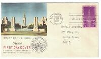 SCOTT 852 FIRST DAY COVER SAN FRANCISCO FEB 18 1939 FIRST CR