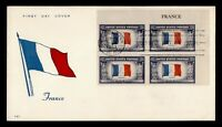 DR WHO 1943 FDC OVERRUN NATIONS FRANCE WWII PATRIOTIC CACHET