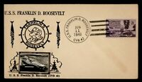 DR WHO 1948 USS FRANKLIN D ROOSEVELT NAVAL SHIP CROSBY CACHE