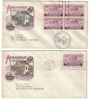 SCOTT 782 FIRST DAY COVERS IOOR CACHET SINGLE AND BLOCK OF F